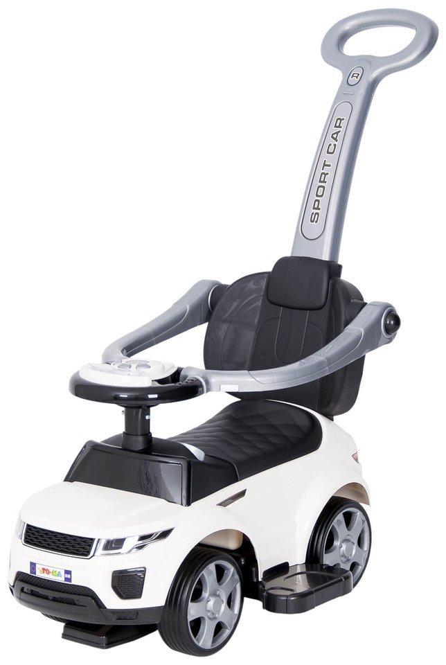 Jeździk SPORT CAR na gumowych kołach biały